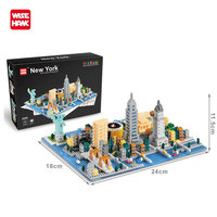 Wisehawk Building Blocks Model Building Kit City Architecture Titanic Statue Of Liberty Educational Toys For Children Nanoblocks