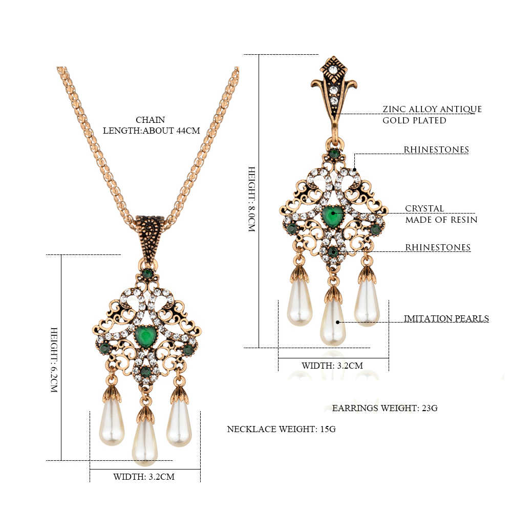 Unique Imitation Pearl Bridal Jewelry Set Womens Necklace Costume Jewellery Sets Party Moroccan Jewelry Wholesale India Dropship