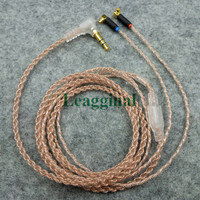 diy earphone cable for F7200 F4100 F3100 ER4SR headphone cable MMCX mini curve plug