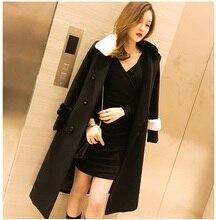 HSC006 lady British style long wool coats/Black Pilot style uniform coat black medium long coats/women wool blended  coats/3size