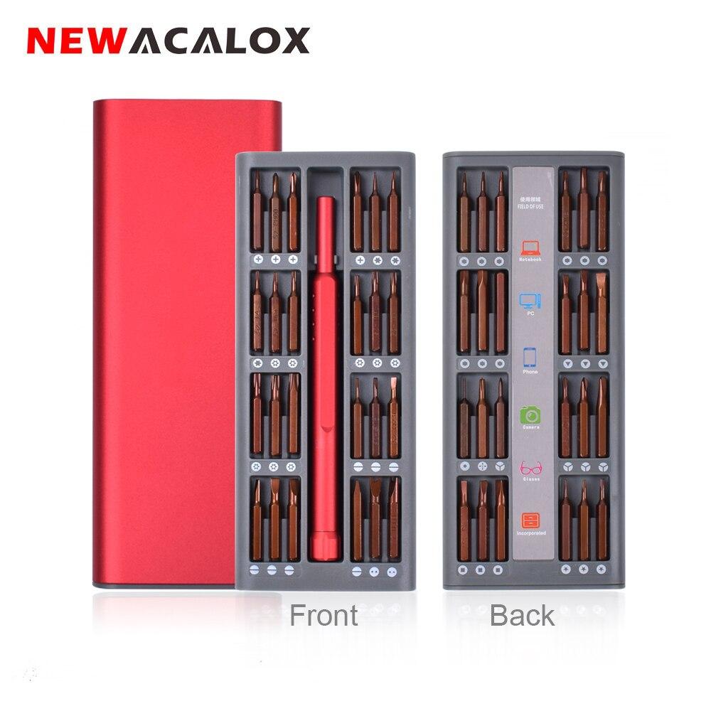 Набор прецизионных отверток NEWACALOX 48 в 1, набор магнитных отверток с шестигранной головкой, биты для бытовой техники, набор инструментов для ремонта электроники Отвертка      АлиЭкспресс