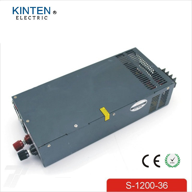 S-1200-36 1200W 36V Switching Power Supply for LED Strip light AC to DC Power Supply Input 110v or 220v 1200W Led Driver best quality 12v 15a 180w switching power supply driver for led strip ac 100 240v input to dc 12v