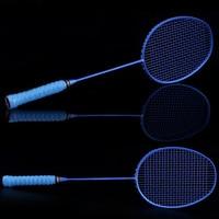 Graphite Single Badminton Racquet Professional Carbon Fiber Badminton Racket with Carrying Bag EDF88