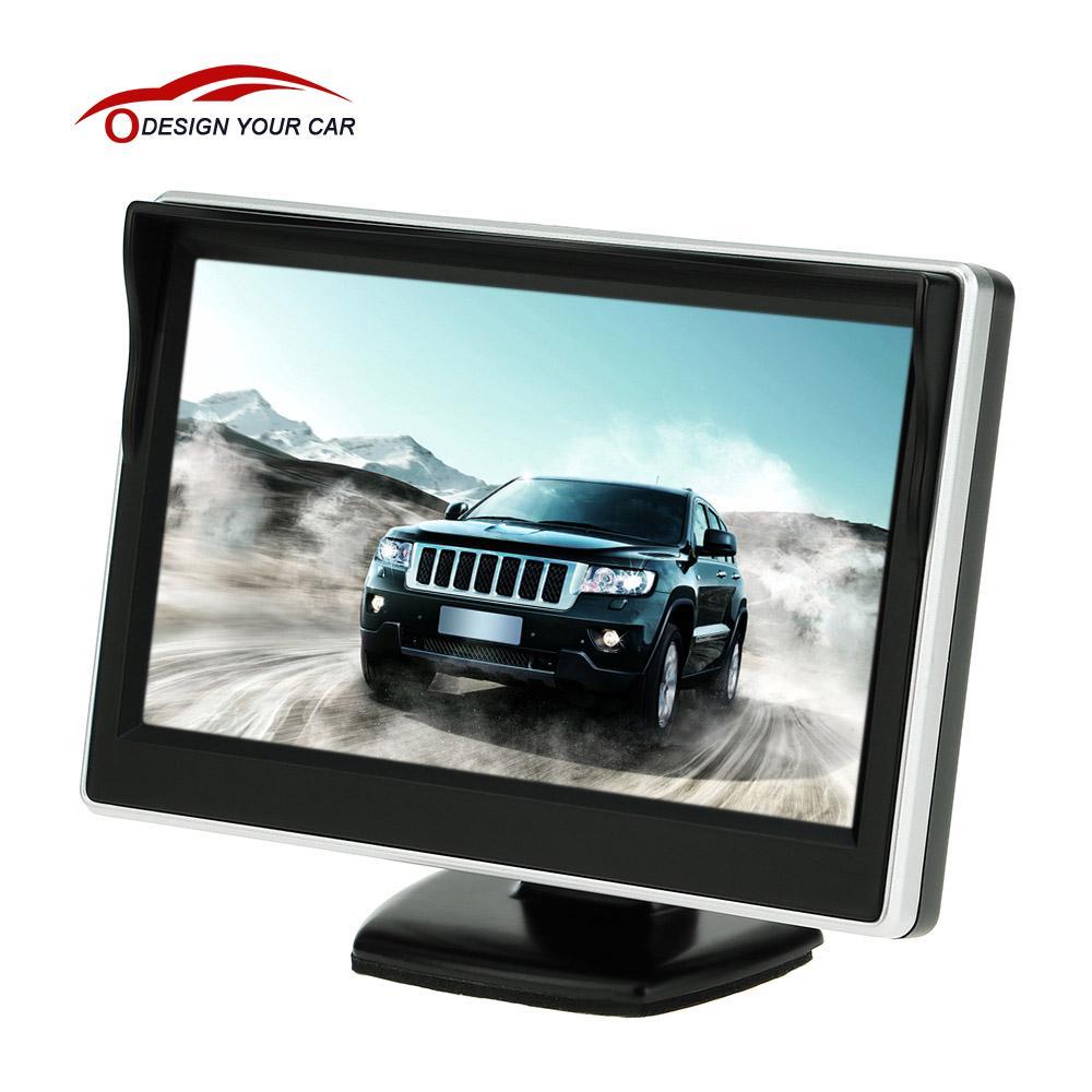 """imágenes para 5 """"TFT LCD de Coches Monitor de TV Auto cámara de visión trasera con Ayuda del Estacionamiento de Reserva del Revés del Monitor DVD Del Coche del monitor del espejo pantalla"""