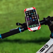 50pc/lot Bike Bicycle Motorcycle Handlebar Mount Holder Phone Holder With Silicone Support Band For Iphone XIAOMI GPS Universal