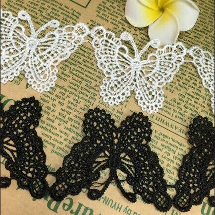 15 Yards Nieuwe Mode Guipure Vlinder Patroon Applicaties White Lace