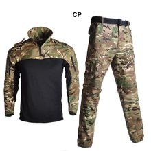 Tactical Frog Suit Camouflage Hunting Clothes Army Jacket Military Uniform Airsoft Sniper Combat Shirt + Pants With 4 Colors брюки tactical frog tactical frog mp002xm0qru2