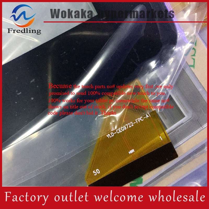 witblue New For 9 yld-ceg9722-fpc-a1 Tablet touch screen panel Digitizer Glass Sensor Replacement Free Shipping