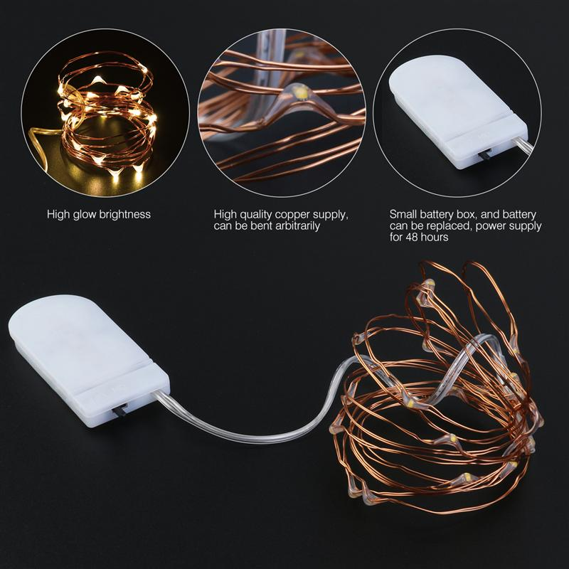 16pcs 2M 20 Lamp Copper string lights Waterproof Battery Operated on 6.56 Ft Long String Copper for Christmas Decoration