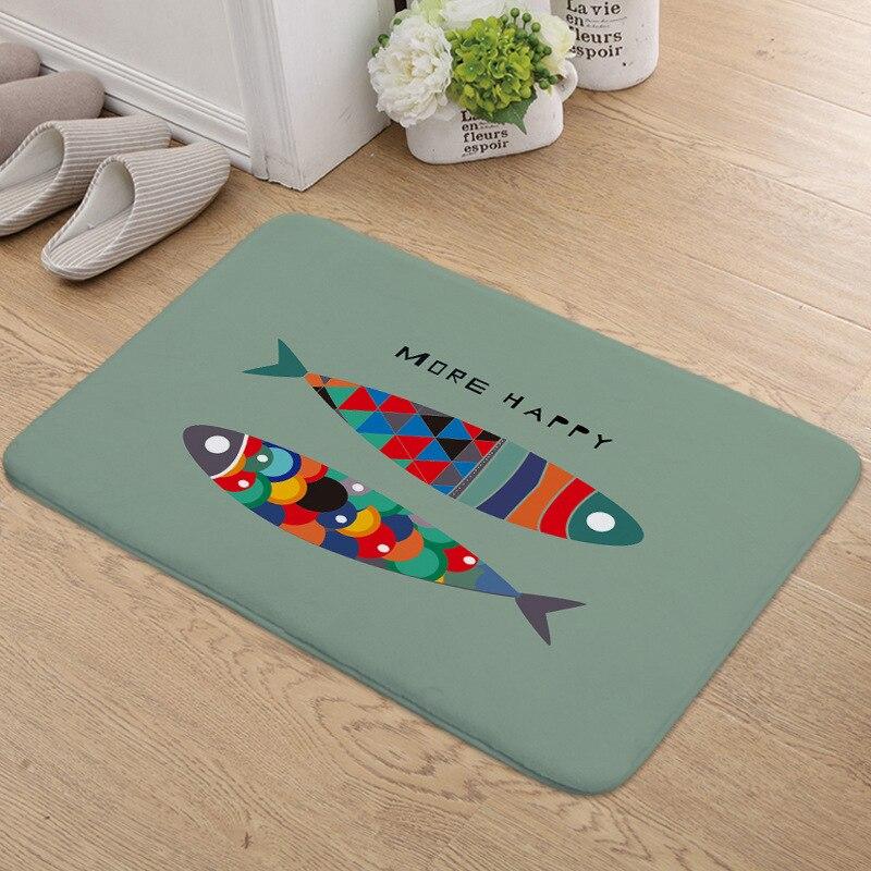 Zeegle Funny Cartoon Pattern Welcome Door mat Carpet For Living Room Bedroom Anti-slip Kitchen Floor Carpets Area Rug Home Decor