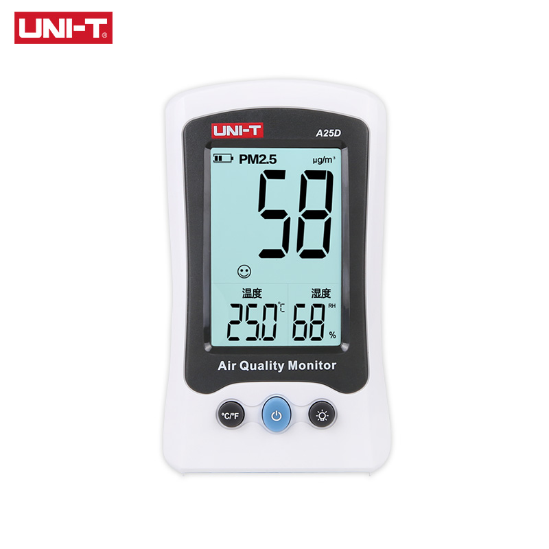 UNI T A25D PM2 5 Testers Air Quality Measurement Meters Detector Auto Range Overload Indication Gas
