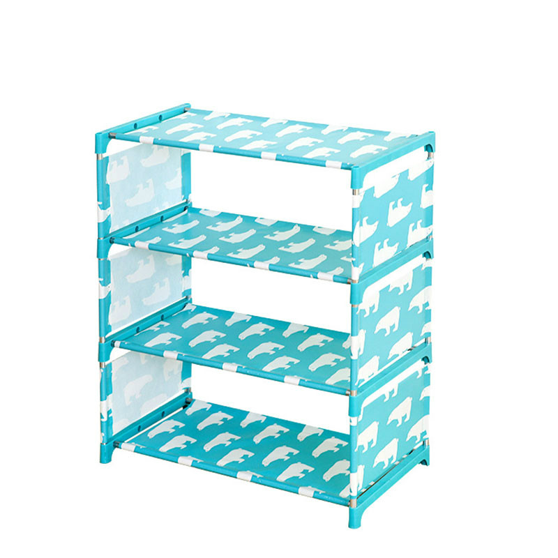 Three Layer Simple Shoe Rack Non-woven Shoe Shelf Multi-purpose Shoe Cabinet Shelves Storage Stand