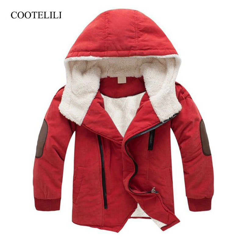 COOTELILI Baby Boy Clothes Winter   Coat   Kids Boy Winter Jacket For Teenage Hooded Children Clothes Kids Clothing Parkas 100-150cm