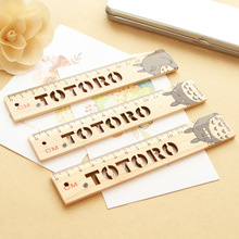 Totoro Wooden Measuring Straight Ruler