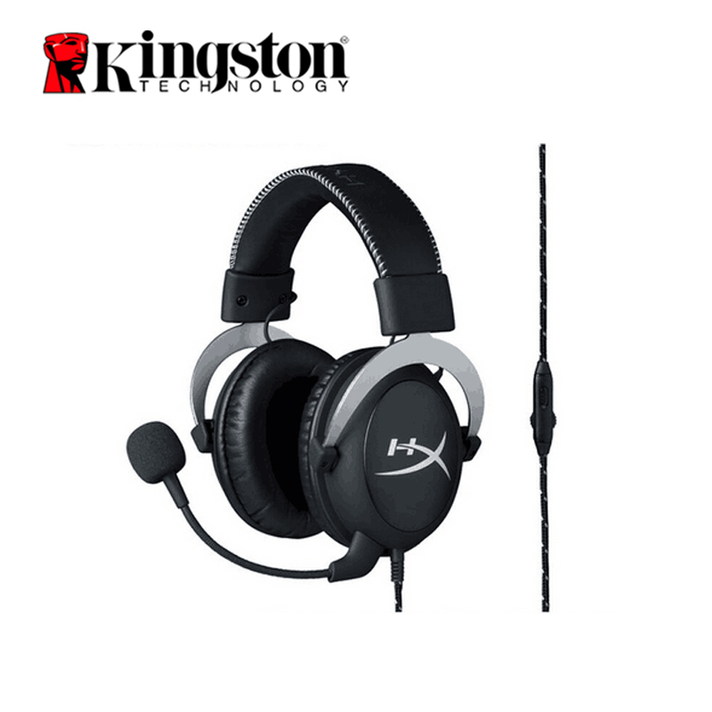 Kingston HyperX Cloud Pro Silver Gaming Headphone with Microphone Volume Control Headset 3 5mm Plug Steelseries