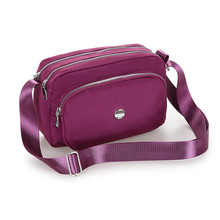 Nylon Shoulder Bag Water proof Oxford Solid Messenger For Women More Zippers High Quality Crossbody Fashion Leisure
