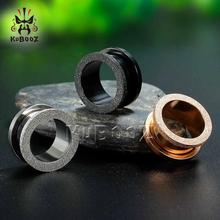 KUBOOZ Screw Ear Gauges Plugs Tunnels Expander Earrings Body Piercing Jewelry Stainless Steel Fashion Rings Gift Unisex 2PCS/Lot