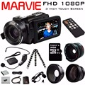 "2017 Marvie New Arrival FHD 1080 P Wi-fi Câmera de Vídeo Digital Camcorder 16x Zoom 24MP COMS Sensor 270 Graus 3.0 ""Tela de LCD"