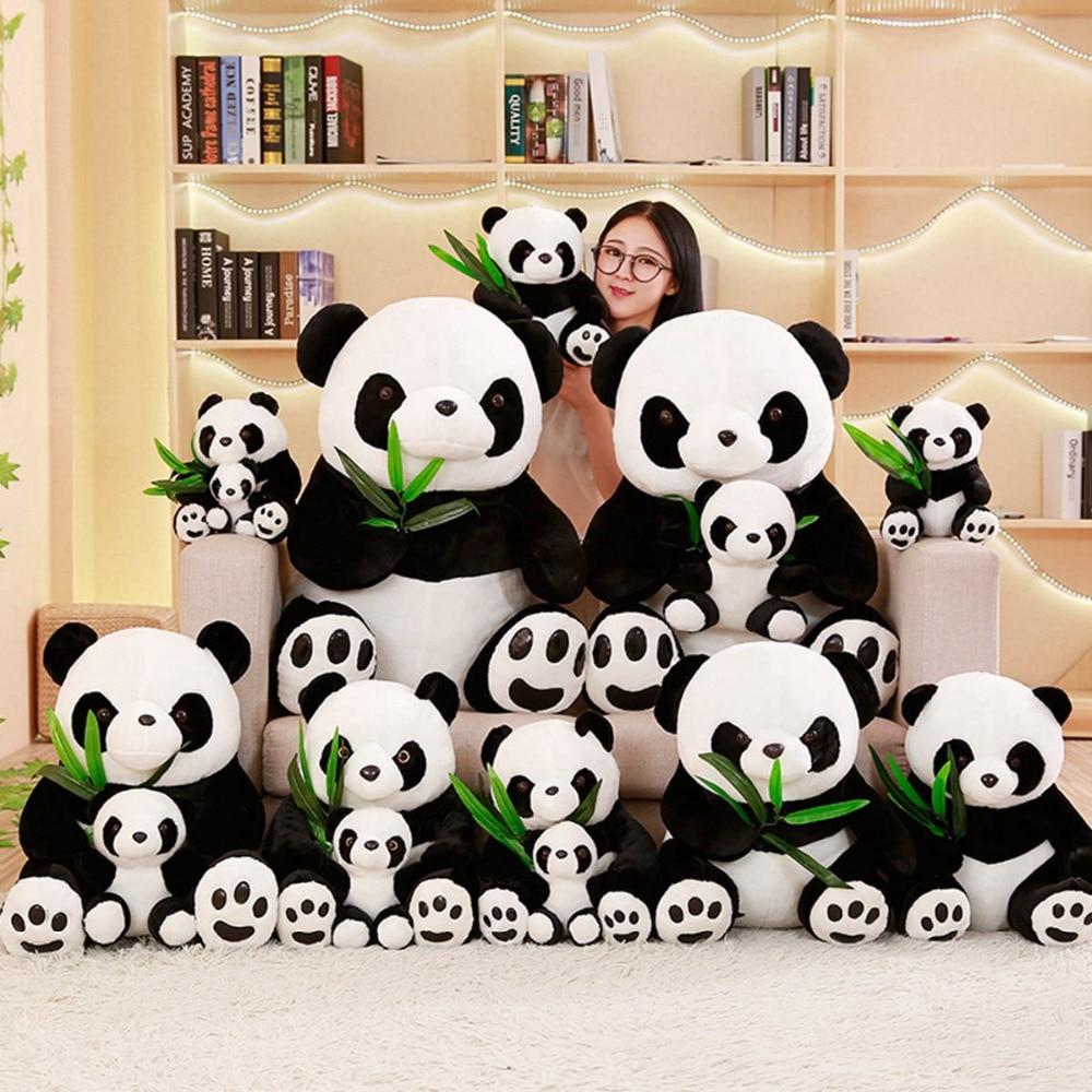25/30/40 cm Soft Simulation Panda Plush Toy Stuffed Animal Toys Panda For Children Education Home Decoration Decent Bed Toy