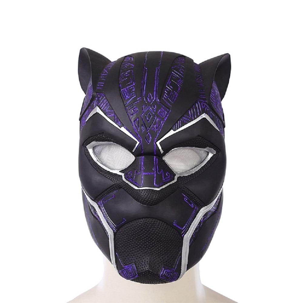 2018 Black Panther Helmet Avengers Infinity War Power Black panther Blue Black Panther Superhero Helmet PVC (4)
