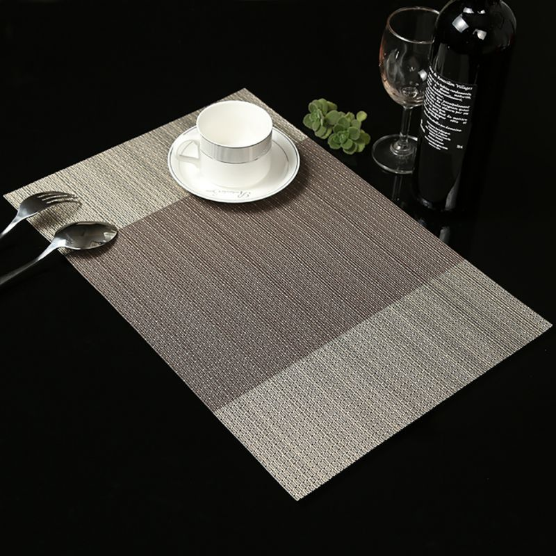 4 pcs PVC Dining Table Placemat Europe Style Kitchen Tool ...