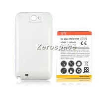 New 6500mAh Extended Battery White Back Case For Samsung Galaxy Note 2 II N7100