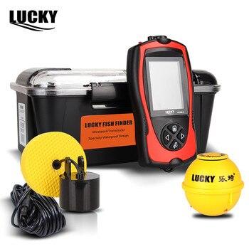 Glück Wireless Fishfinder Verdrahtete 90 Grad Sonar echolot Licht Köder Sensor Alarm System Deeper Fishfinder FF1108-1CLA