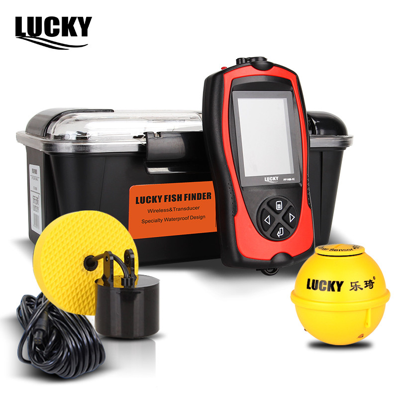 Lucky Wireless Fishfinder Wired 90 Graden Sonar Echolood Light Lure - Visvangst