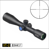 DISCOVERY optical 8X44 SF Hunting Riflescopes Side Parallax Glass Etched Reticle Turrets Lock Reset Fixed Magnification 8X Scope