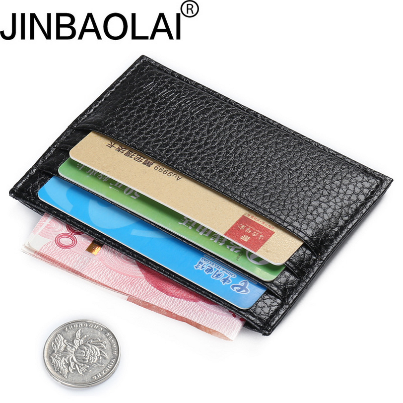 JINBAOLAI Ultra-thin card package Men and Women wallet male Multi-card bit Coin Purse Bank card sleeve D3000