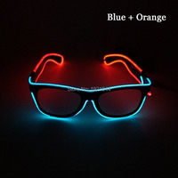 For Glow Party Decoration Supplies 10pieces EL Wire Glowing Glasses Multicolor Neon Light Glasses with Voice Controller