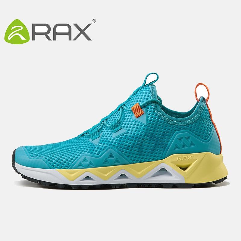 ФОТО 2017 Rax Breathable Trekking Shoes Women men Summer Lightweight Hiking Shoes Men Ourdoor Walking Fishing Shoes Men Women Zapatos