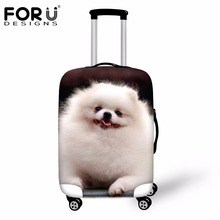 Forudesigns Чемодан защитный чехол 3D померанский шпиц печати путешествия Чемодан крышка животных тележка чемодан Крышка для 18-30 дюймов случае