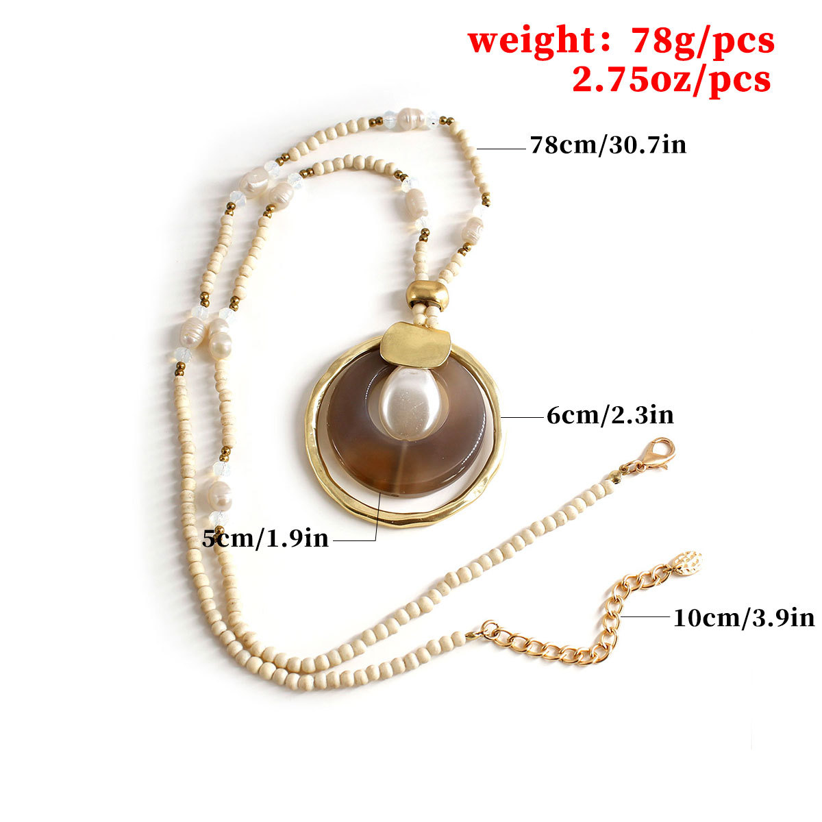 Fashion Jewelry Beads Pearl Round Necklace Pendant Women Exaggerated Personality Necklace XL663 in Pendant Necklaces from Jewelry Accessories