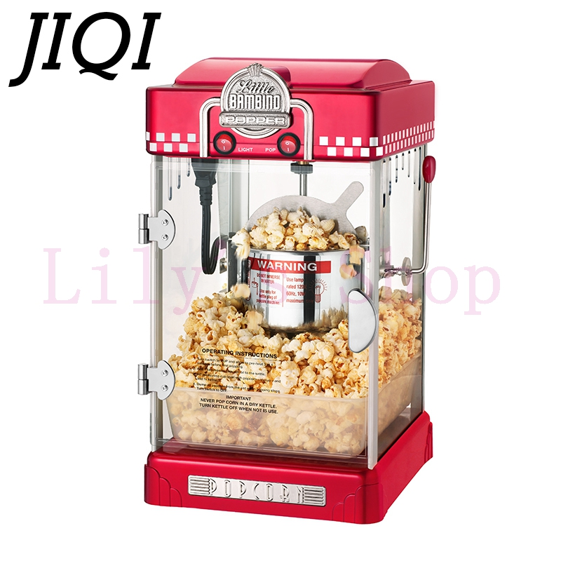 Electric American style popcorn machine mini Commercial automatic hot oil popcorn maker stainless steel non-stick pot 110V 220V high quality commercial home hot selling domestic electric gas hot air popcorn maker popcorn machine