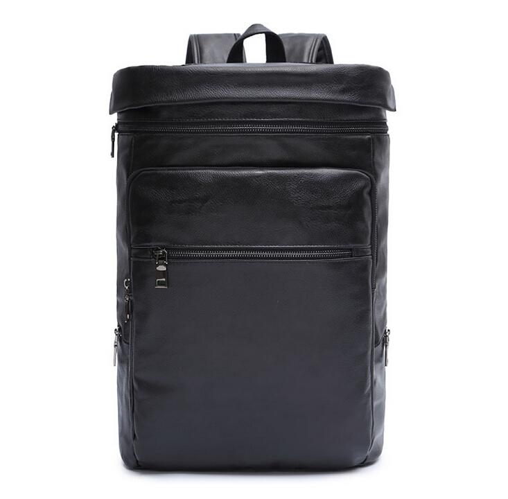 X-Online hot selling good quality man fashion backpack black male leather bag 1pcs pcilmc pcilmc 3 selling with good quality