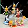 6pcs/Set Kids Gift Tinkerbell Dolls Flying Flower Fairy Children Animation Educational Cartoon Toys BabyToy