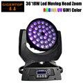 Gigertop TP L622A Zoom Led Moving Head Licht 36x18W 6in1 RGBWA + UV DJ DMX Waschen Licht Gute qualität Led Display 15 60 Grad Zoom-in Bühnen-Lichteffekt aus Licht & Beleuchtung bei