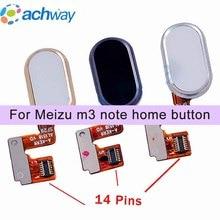 Meizu M3 Nota L681H Tasto Home Sensore di Impronte Digitali Chiave Cavo Della Flessione Del Nastro Parti di Ricambio Meizu L681H Pulsante 14 pin
