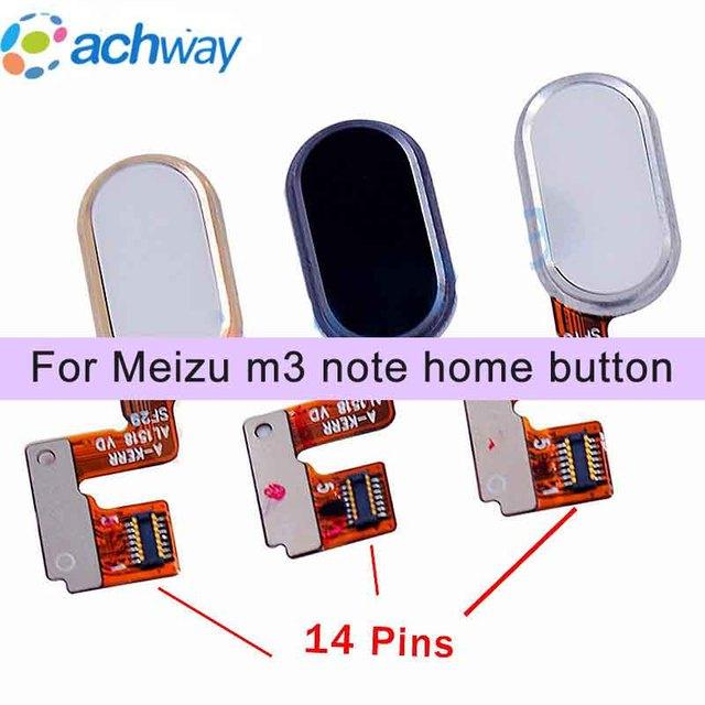 US $3 89 |Meizu M3 Note L681H Home Button Fingerprint Sensor Key Flex Cable  Ribbon Replacement Parts Meizu L681H Button 14 pins-in Mobile Phone Flex