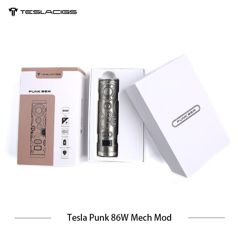 E Cigarette Tesla Punk 86 w Mech Mod Teslacigs Max 86 w Mécanique Mod Unique 18650 Vaporisateur Cigarette Électronique Mod VS Vgod Mech Mod - 6