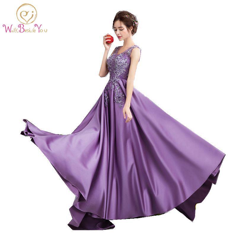 robe de soiree de luxe evening dresses purple lace prom With robe de soirée luxe