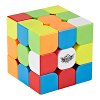 Cyclone Boys Feijue 3x3 Magnetic Version Magic Cube Stickerless Speed Cube Puzzle Toy Colorful