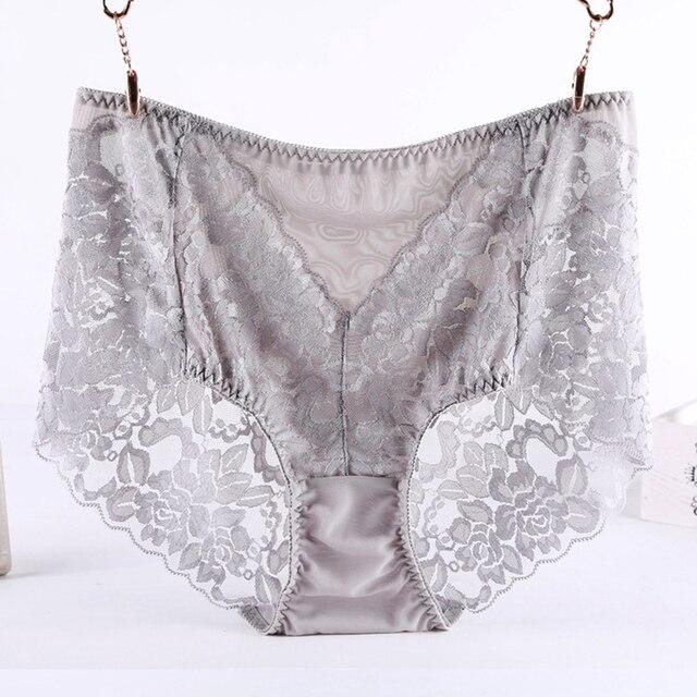526f58c11 Cuecas Mulheres Cuecas Sensuais Lingeries de Renda High-end Marca de luxo plus  size Calcinhas