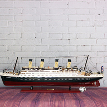 80*12*25 cm Big Size Titanic Ship Model Toys Solid Wood Ship Model Kit with ELD Lights Holiday Gifts Christmas Gifts