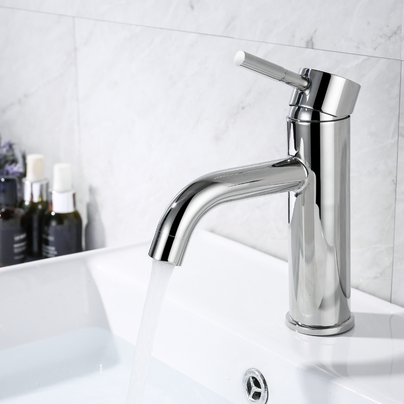 IVRICH Stainless Polished Basin Faucet Stainless Steel bathroom faucet Deck Mounted Tap Round robinet lavabo sink faucet ML201IVRICH Stainless Polished Basin Faucet Stainless Steel bathroom faucet Deck Mounted Tap Round robinet lavabo sink faucet ML201