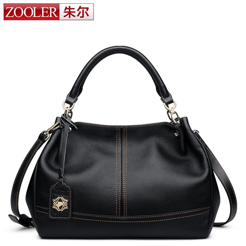 все цены на ZOOLER 100% Genuine Leather Women Bags Handbags Famous Brand Fashion Real Cowhide Crossbody Tote Bag bolsas femininas a main sac