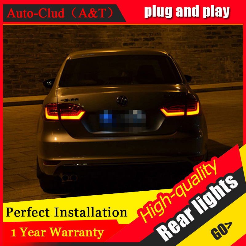 Car Styling for VW Jetta Taillights 2011-2014 Jetta MK6 LED Tail Lamp LED Rear Lamp DRL+Brake+Park+Signal led lights liandlee for volkswagen vw jetta a6 1b mk6 vw sagitar led car license plate lights number frame light high quality led lamp