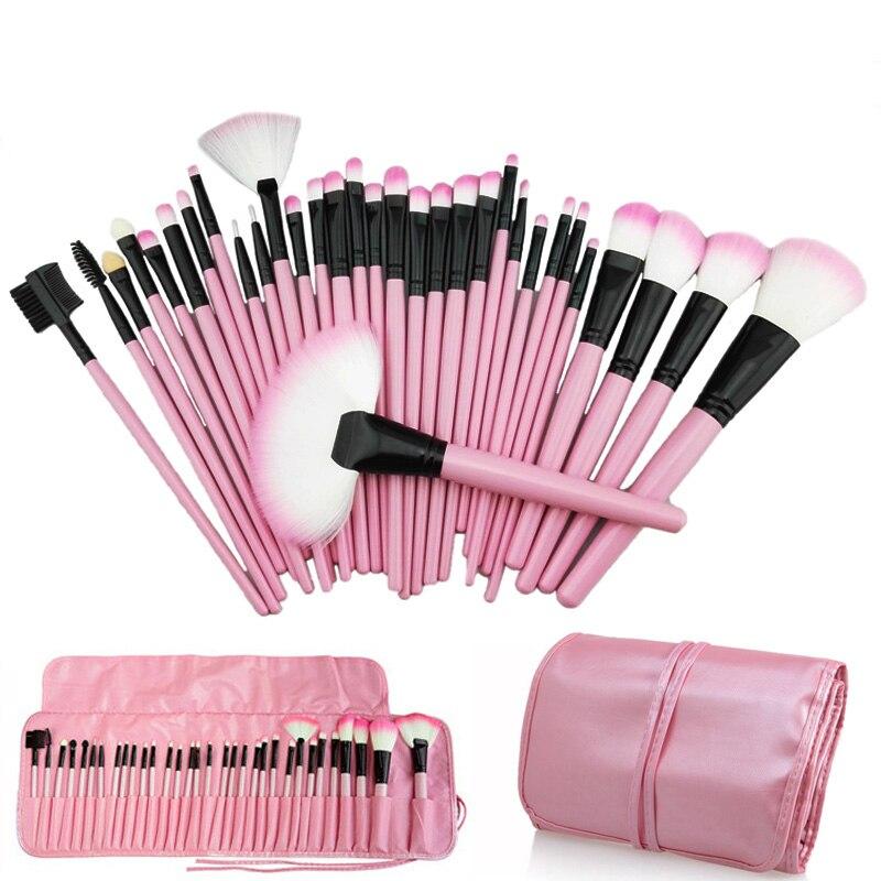 Stora 32stk Makeupborstar Professionella Mjuka Kosmetika Make Up Borste Set Kabuki Foundation Borsta Läppstift Skönhetsverktyg maquillaje