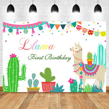 цена NeoBack Llama Birthday Llama Fun Photography Backdrops Blue Llama Baby Shower Llama Party Banner Background for Photo Shoots онлайн в 2017 году